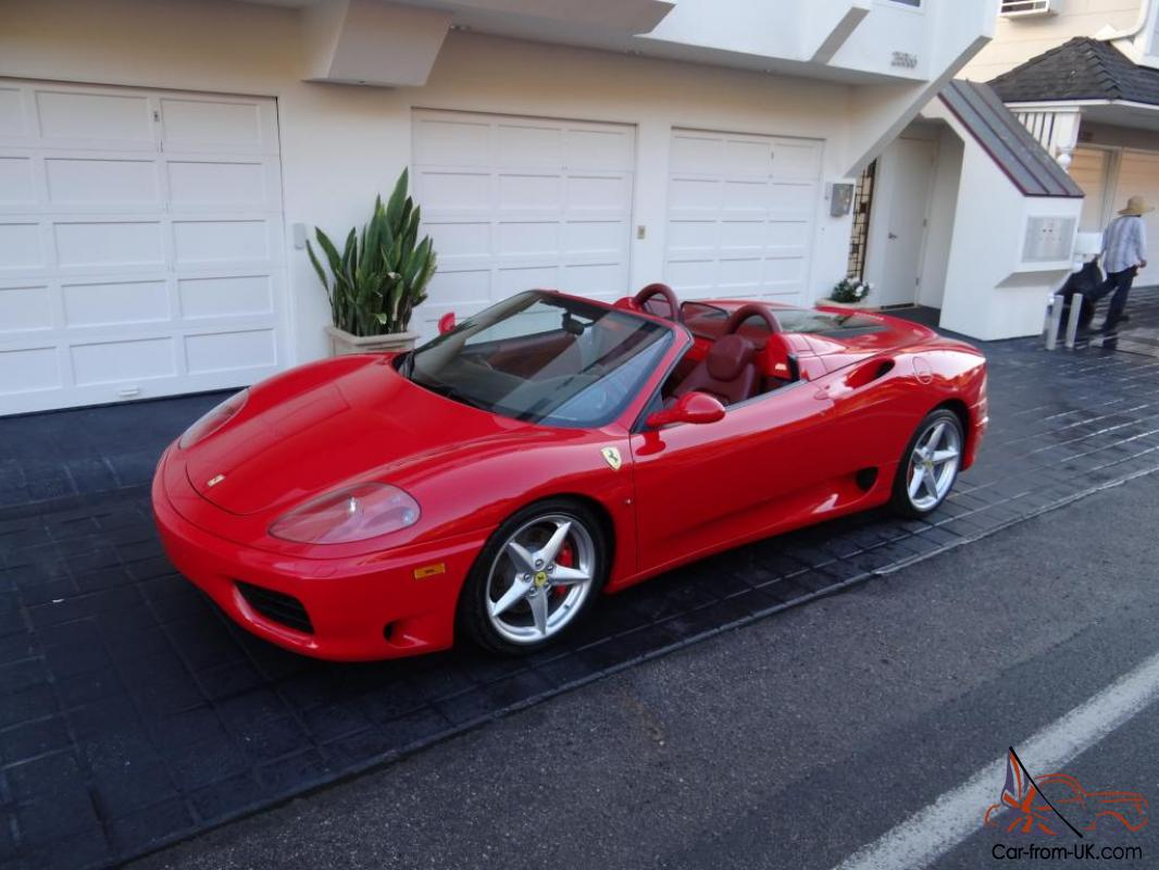 2003 Ferrari 360 Modena Spyder Convertible Fabspeed Exhaust Serviced 6spd  Manual