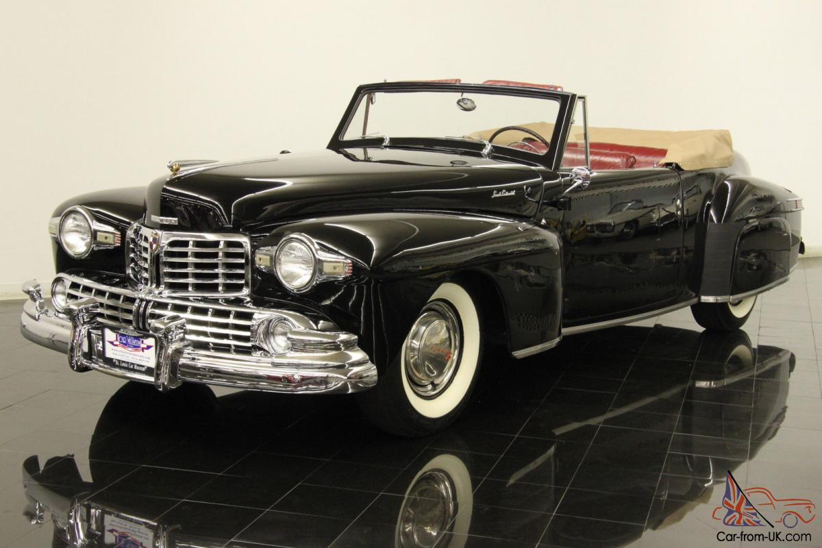 1947 lincoln continental convertible 305ci v12 3 speed full ccca pt pw leather. Black Bedroom Furniture Sets. Home Design Ideas