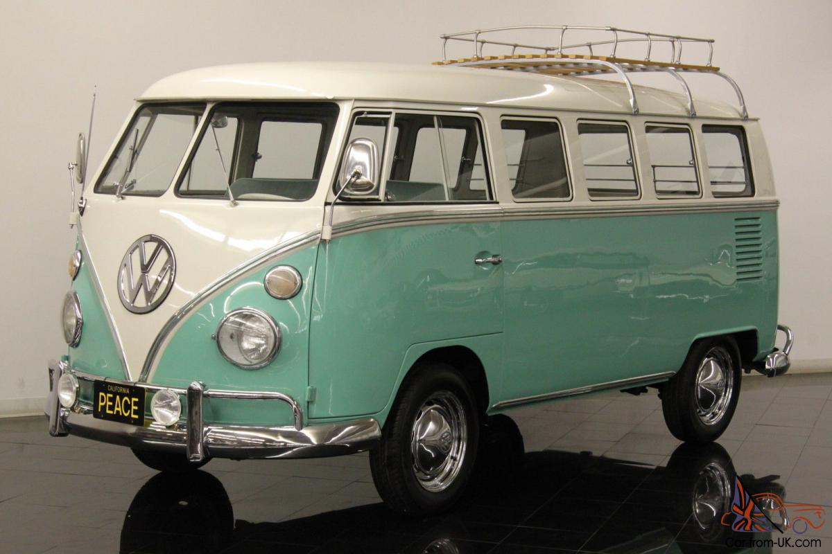 1964 Volkswagen Type 2 Deluxe 13 Window Micro Bus Restored