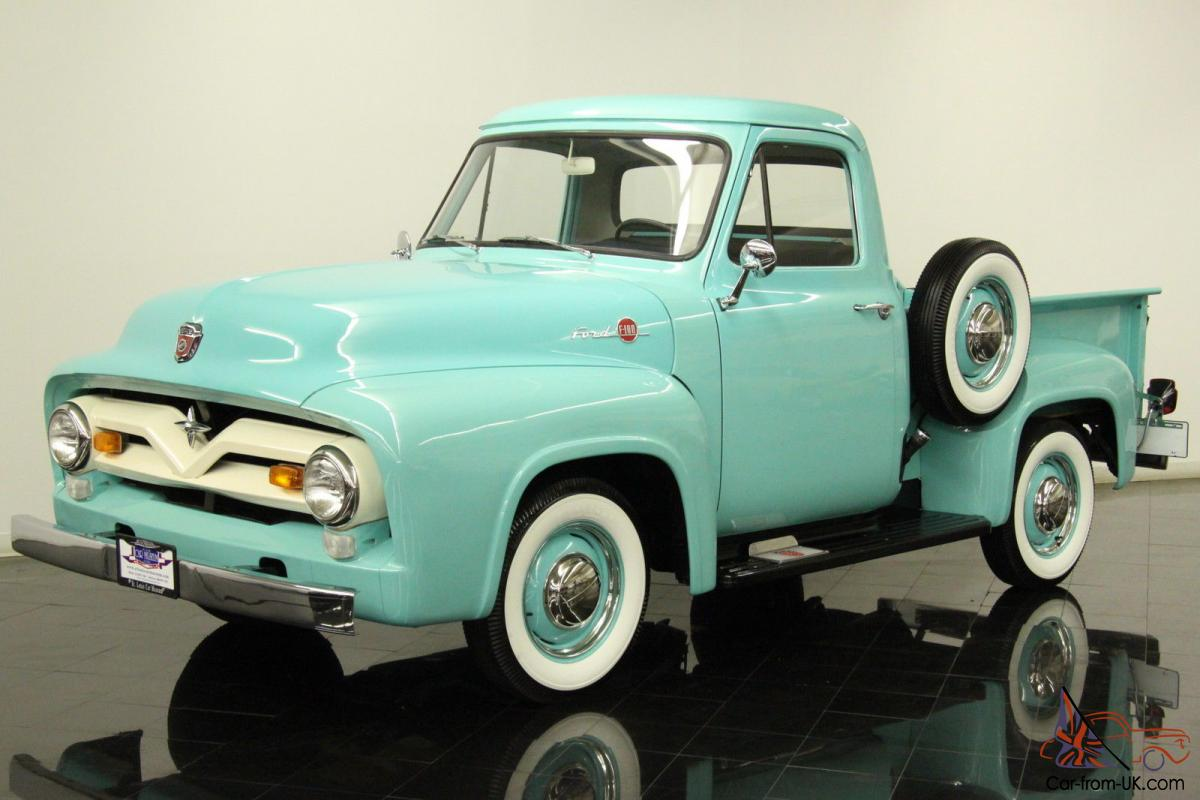 1955 Ford F100 Pickup 223ci 6 Cylinder 3 Speed Restored Chrome Bumpers Vin Location