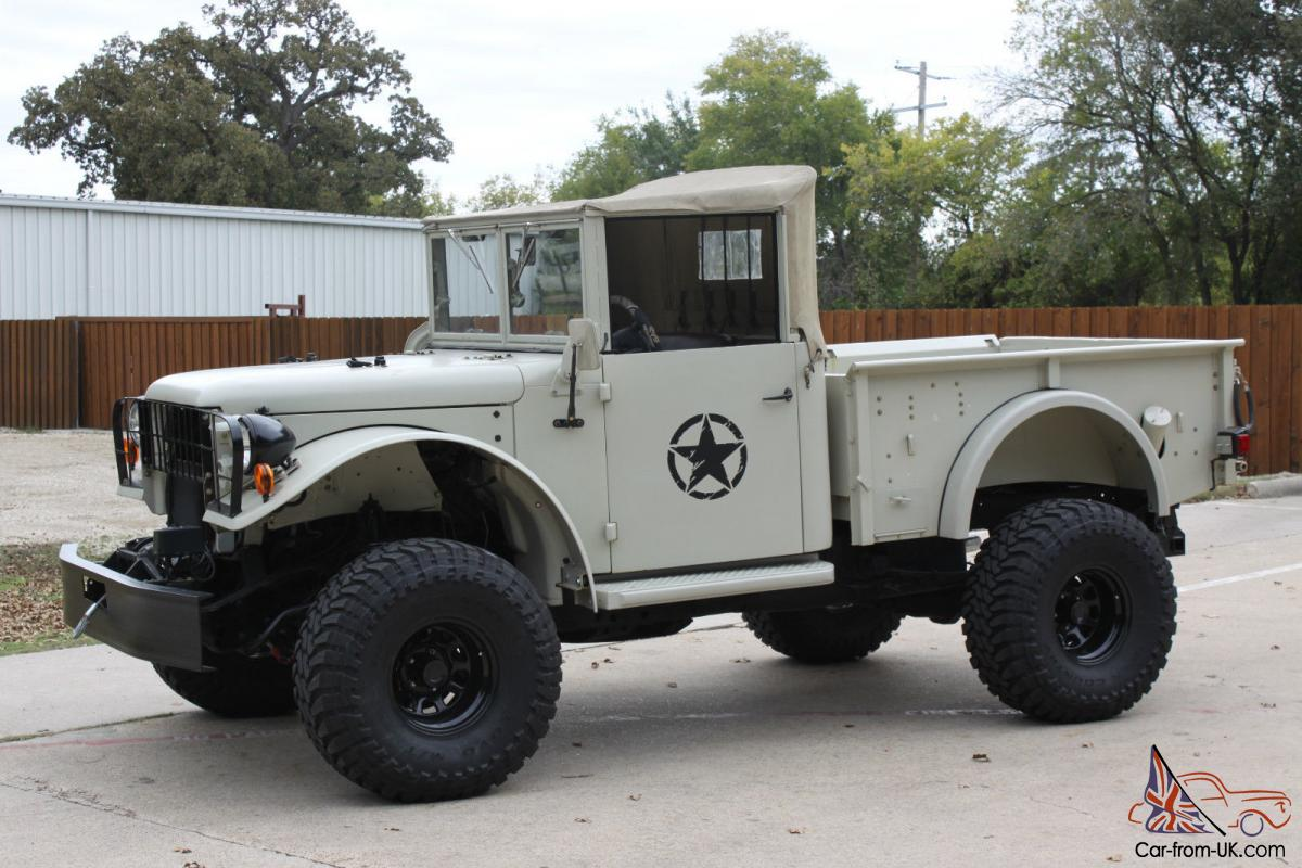 1951 dodge power wagon m37 modern 4x4 chassis 5 9 fi o d auto all pwr a c. Black Bedroom Furniture Sets. Home Design Ideas