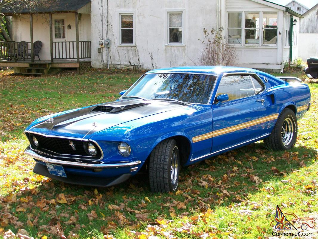 1969 ford mustang mach 1 390 fe big block four speed