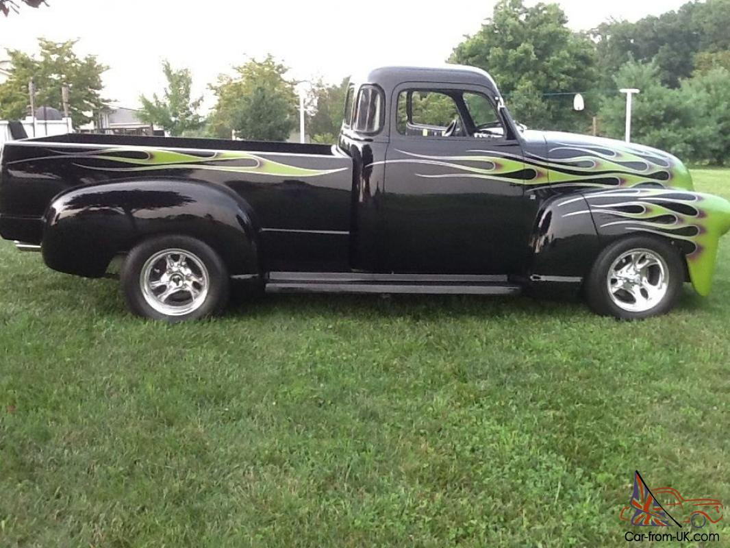 1950 chevy 3100 long bed five window pick up custom street rod for Long windows for sale