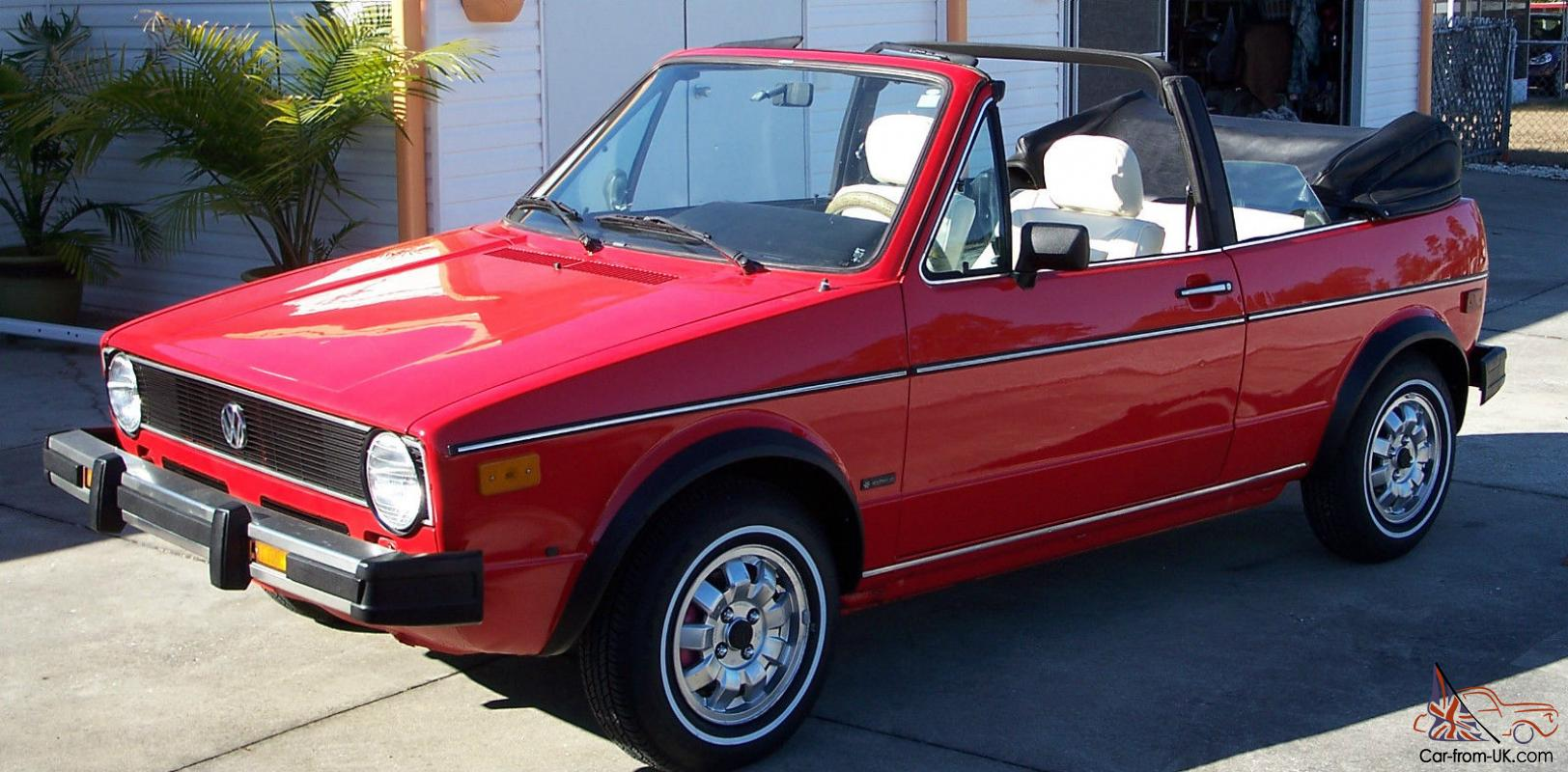 Vw Rabbit Convertible Fully Restored Red With Black Top