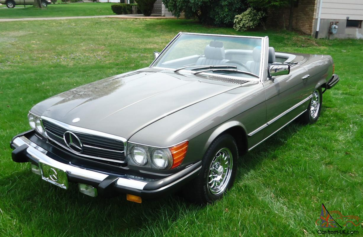 1981 mercedes benz sl380 sl class convertible roadster with 44k original miles. Black Bedroom Furniture Sets. Home Design Ideas