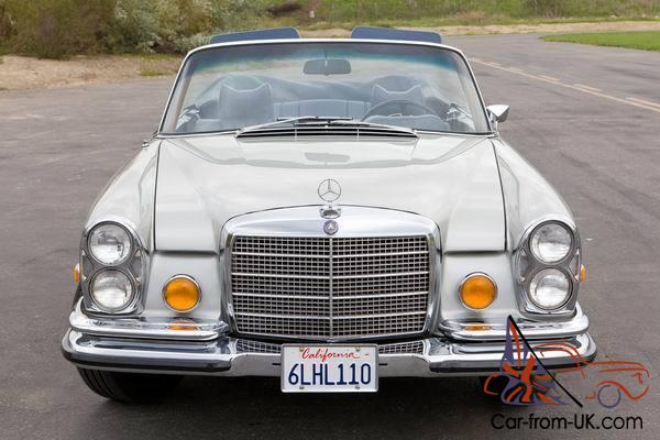 1971 mercedes 280se 3 5 cabriolet floor shift silver blue for Mercedes benz southern california