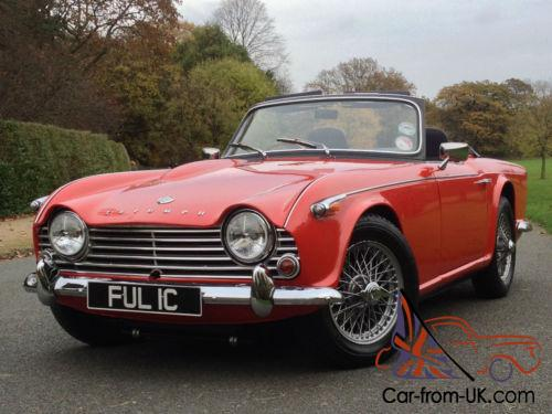 1965 triumph tr4a roadster stunning uk rhd car overdrive and wire wheels. Black Bedroom Furniture Sets. Home Design Ideas