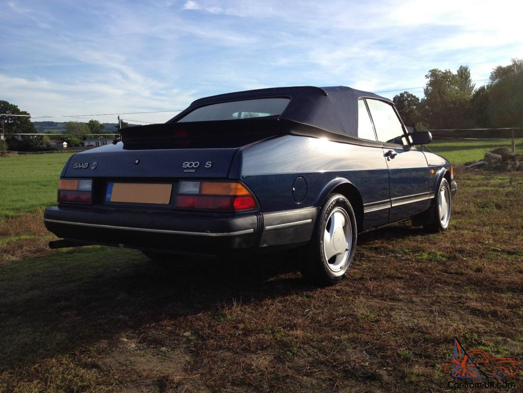 1992 saab 900 s convertible blue intercooler. Black Bedroom Furniture Sets. Home Design Ideas
