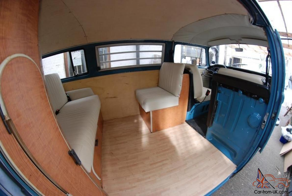Vw 1972 t2 bay window kombi lhd 1500cc westfalia interior for Vw kombi interior designs