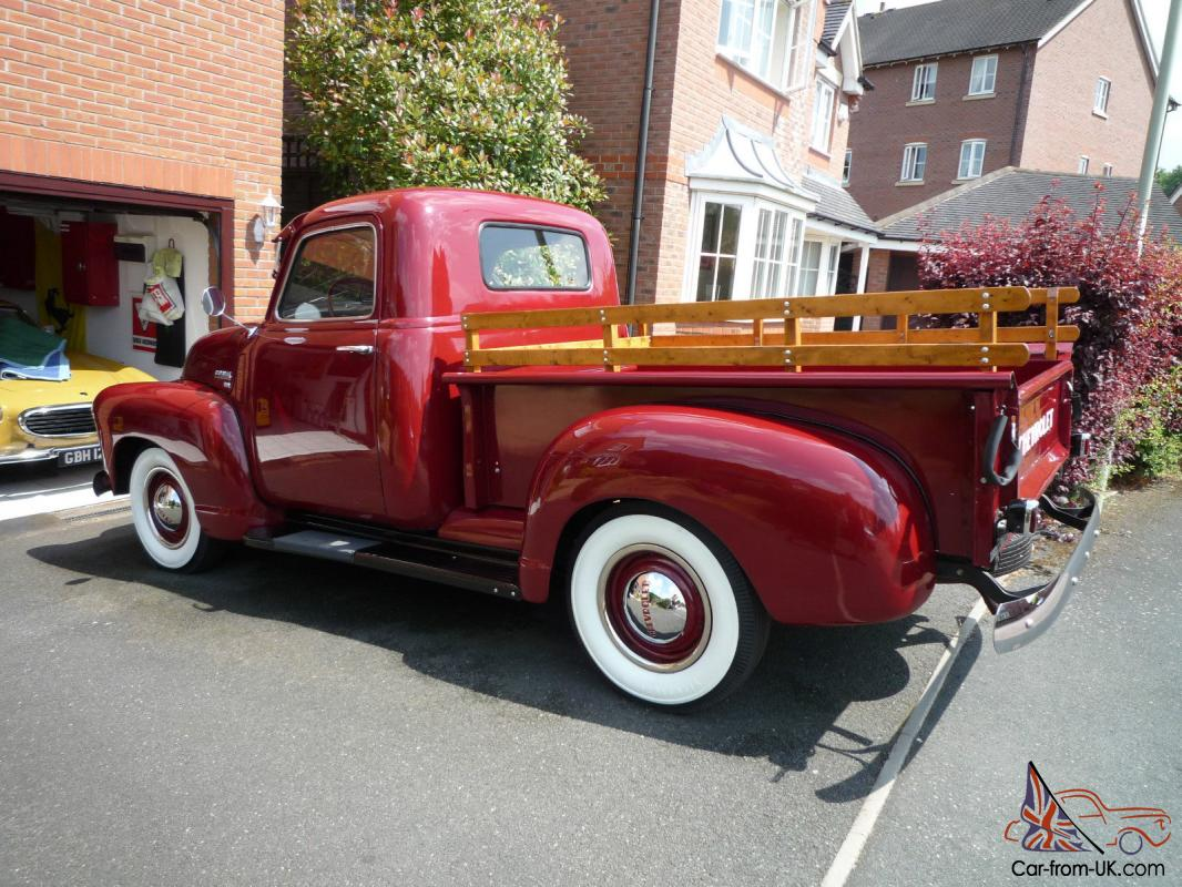 This 1949 chevrolet 3100 pickup truck is one of the