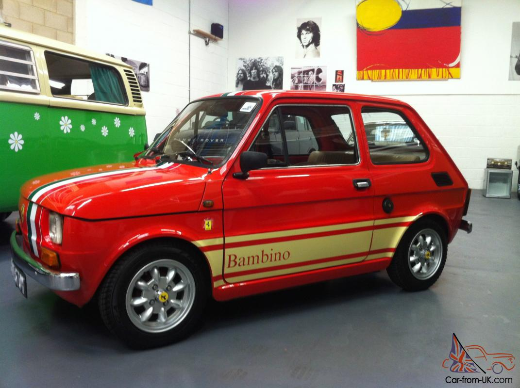 fiat 126 1983 rare italian red bambino edition 34 000 miles not fiat 500. Black Bedroom Furniture Sets. Home Design Ideas