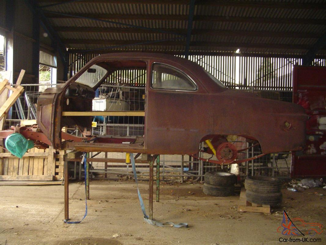 1949 FORD TUDOR COUPE UNFINISHED HOT ROD PROJECT 1971 MUSTANG v8 ...