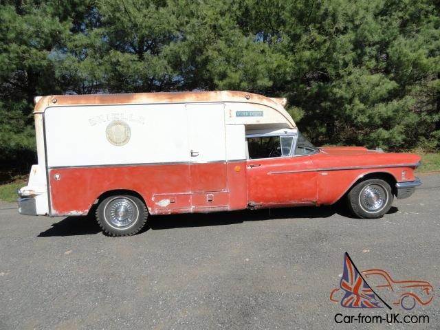 Cadillac 1958 Franklin Ambulance Paddy Wagon 57 58 59 60