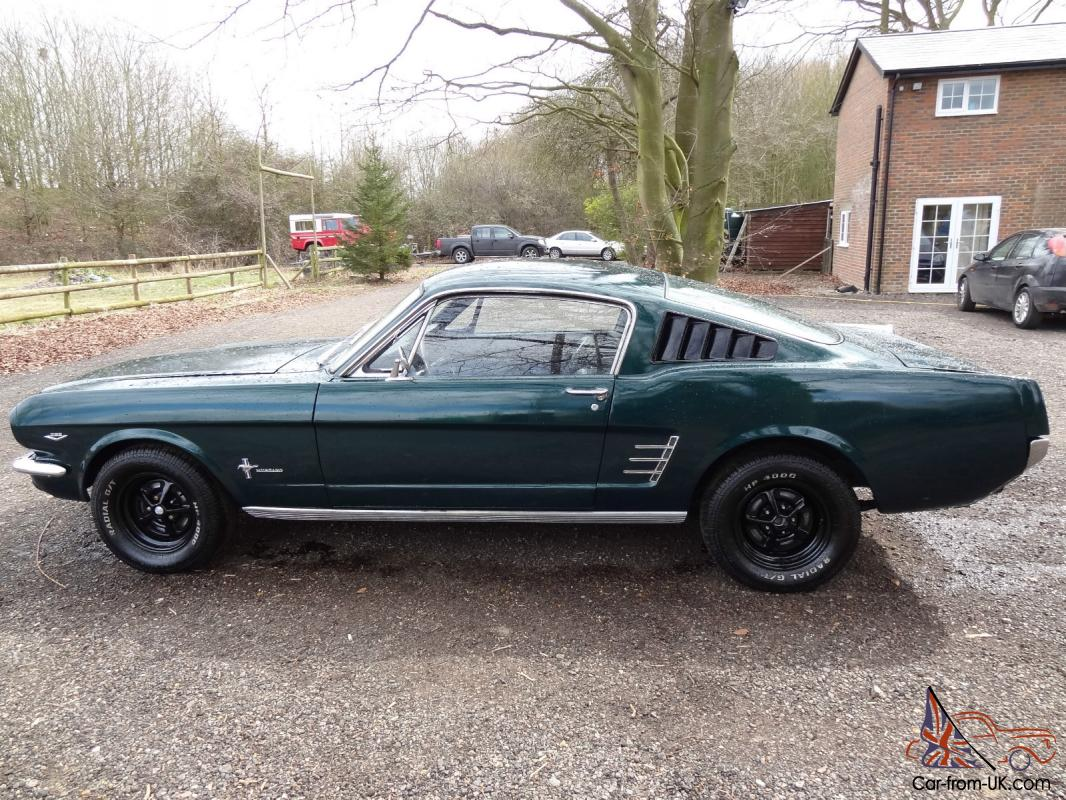 1966 ford mustang fastback fast back 289 v8 3 auto metallic green lhd very tidy. Black Bedroom Furniture Sets. Home Design Ideas