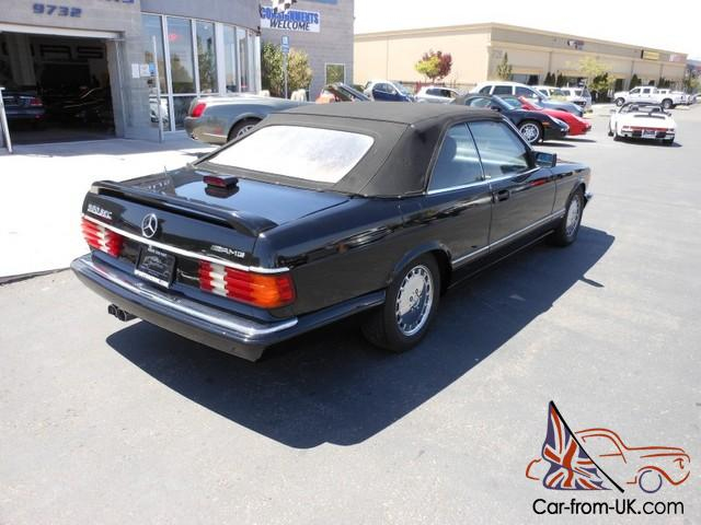 1986 mercedes benz 560 series convertible 560sec for Mercedes benz 560sec for sale