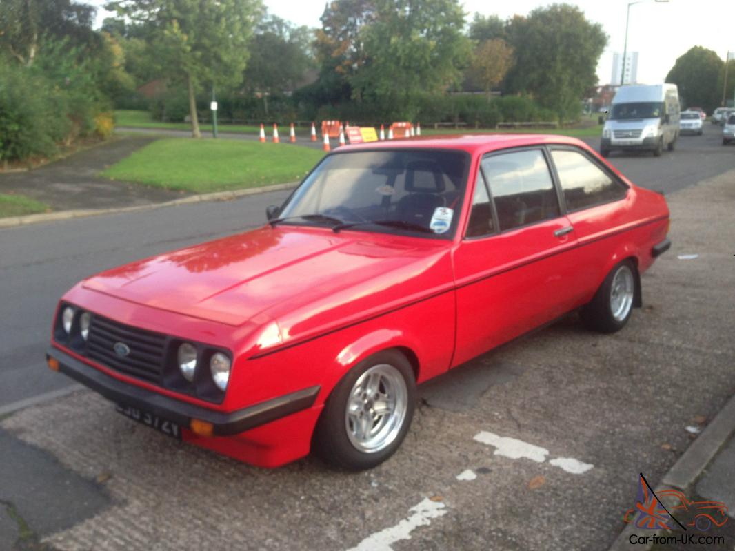 1979 ford escort rs 2000 mk2 red px