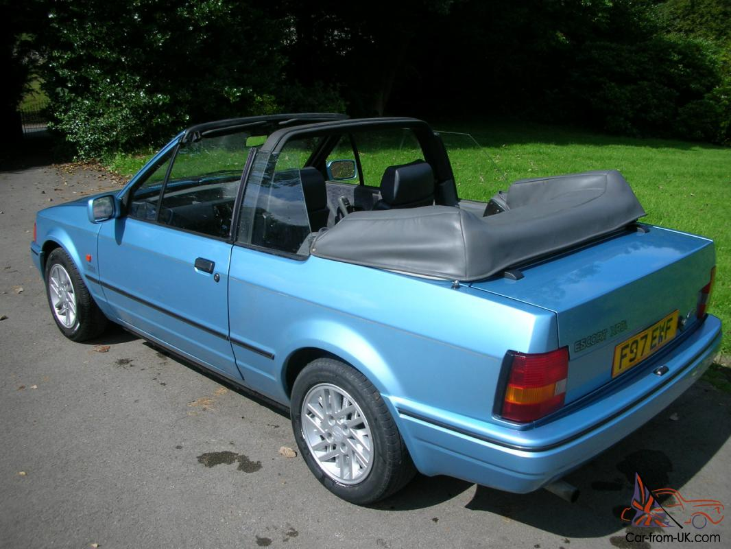 ford escort xr3i convertable cabriolet. Black Bedroom Furniture Sets. Home Design Ideas