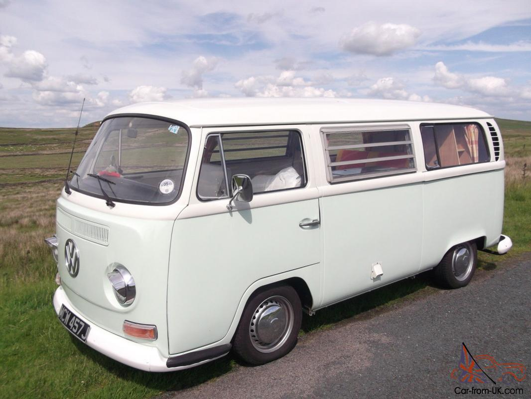 Rare Tin Top 1971 Vw T2 Left Hand Drive Camper Van Tax