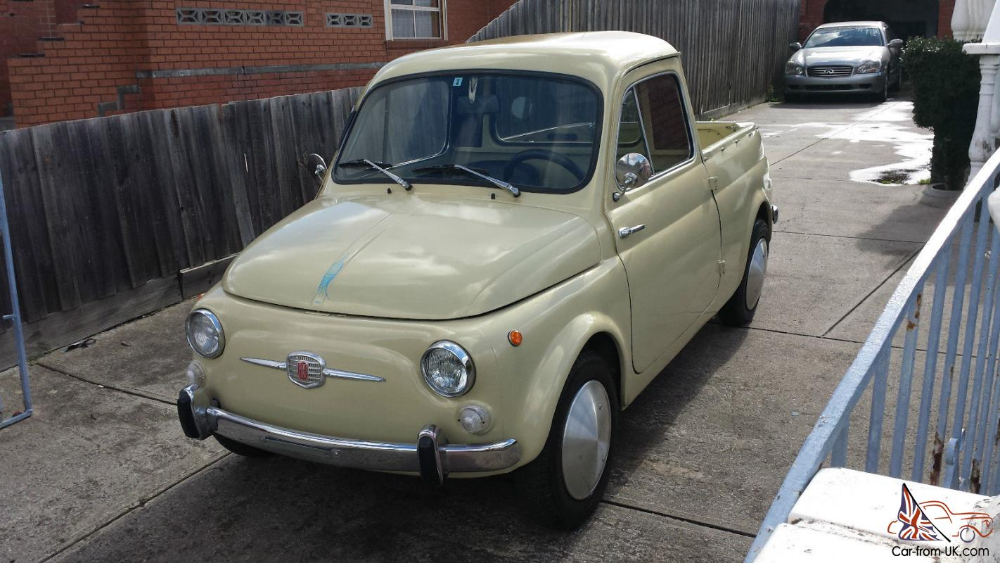 1962 fiat 500 gardiniera ute pick up abarth in melbourne vic. Black Bedroom Furniture Sets. Home Design Ideas