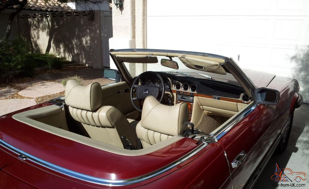 Mercedes Benz 450 Sl 1977 Convertible 3 Sp Automatic 4 5l Electronic F Inj In Adelaide