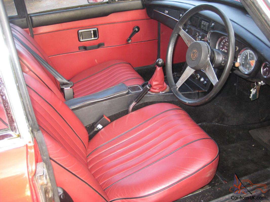 Mgb Gt 1972 15 Chrome Wire Wheels Red Leather Interior 1 Previous Owner