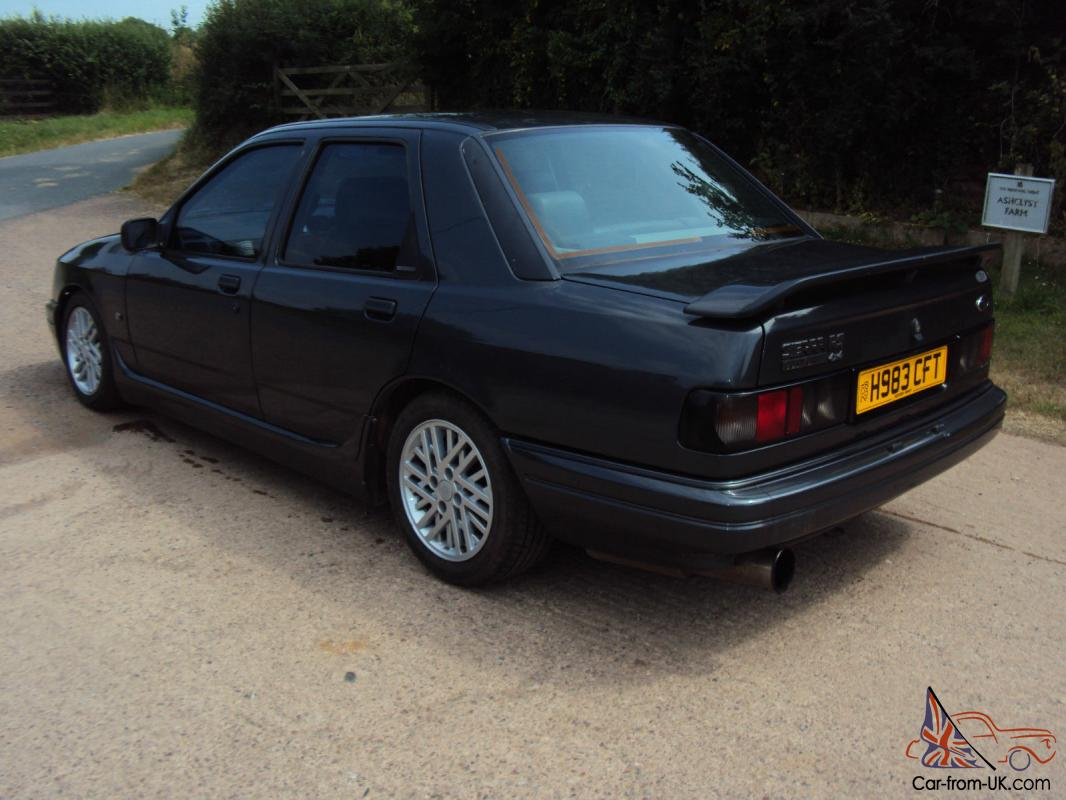 1991 h ford sierra sapphire rs cosworth 4x4 black with black leather. Black Bedroom Furniture Sets. Home Design Ideas