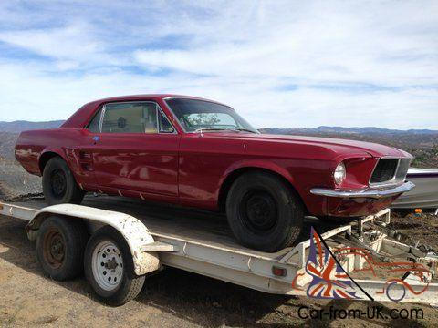 67 mustang coupe califonia car one owner from new. Black Bedroom Furniture Sets. Home Design Ideas