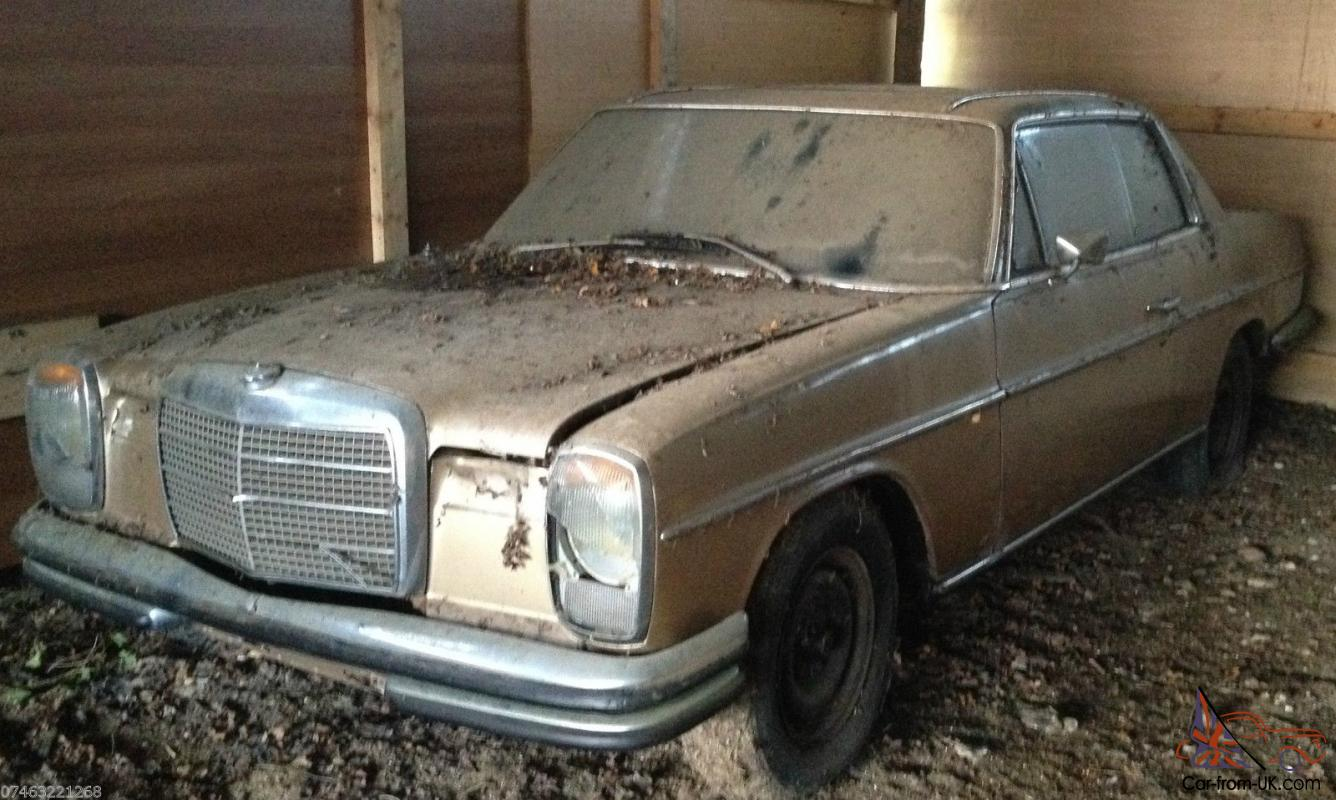8 Mercedes Benz W114 W115 Classic Tax Exempt Coupe Barn Find Restoration Project
