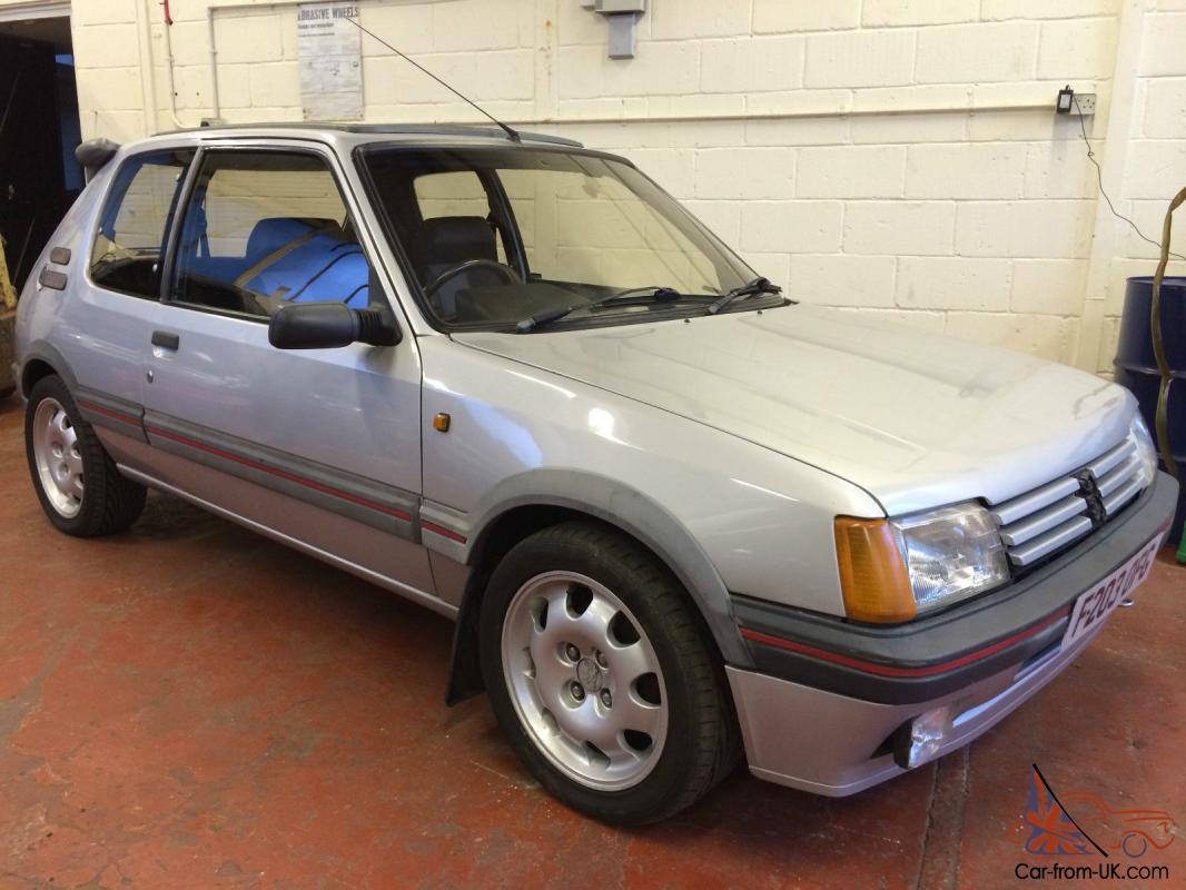 1988 peugeot 205 gti 1900 1 9 silver 99 000 miles 3 owners. Black Bedroom Furniture Sets. Home Design Ideas