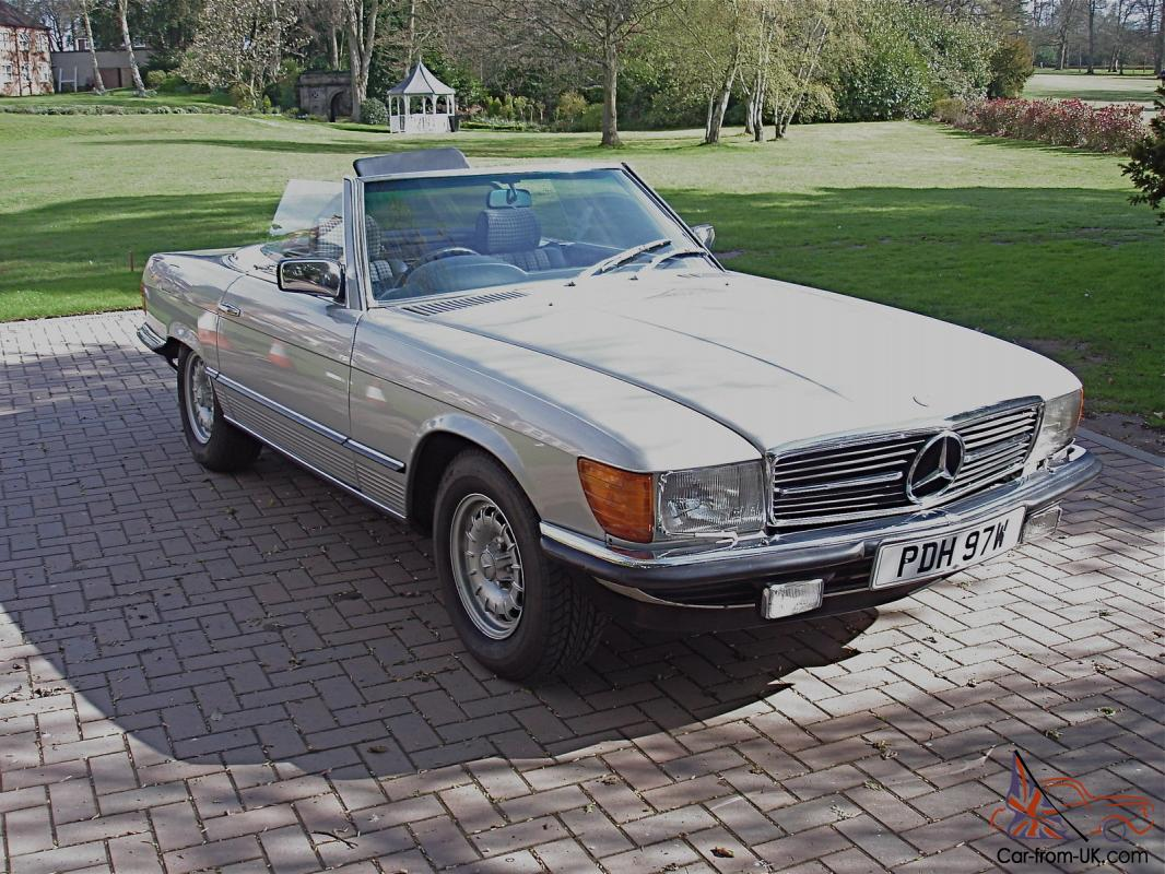 1980 mercedes 450 sl auto silver 34 000 miles. Black Bedroom Furniture Sets. Home Design Ideas