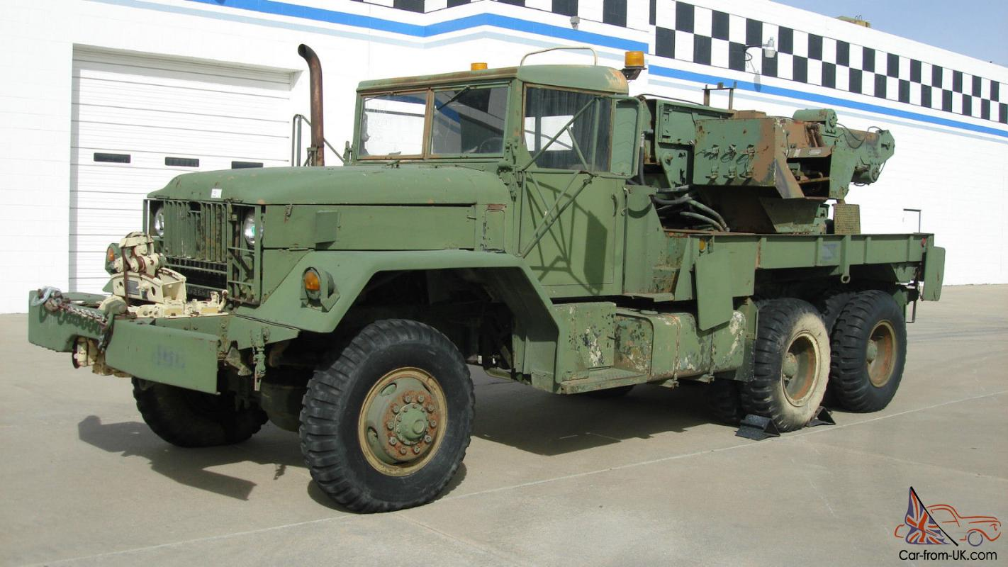 1968 Us Army Recovery Equipment M62 Medium Wrecker 5 Ton 6x6