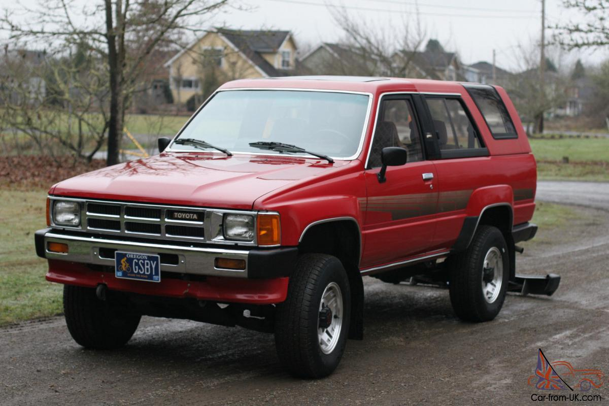 1986 toyota 4runner sr5 sport utility 2 door 2 4l clean. Black Bedroom Furniture Sets. Home Design Ideas