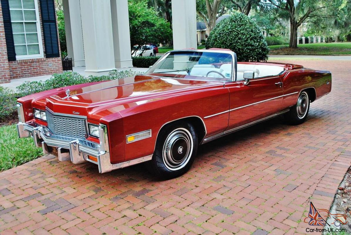Firethorn Red Mint Fuel Injected 76 Cadillac Eldorado Convertible 27 558 Miles