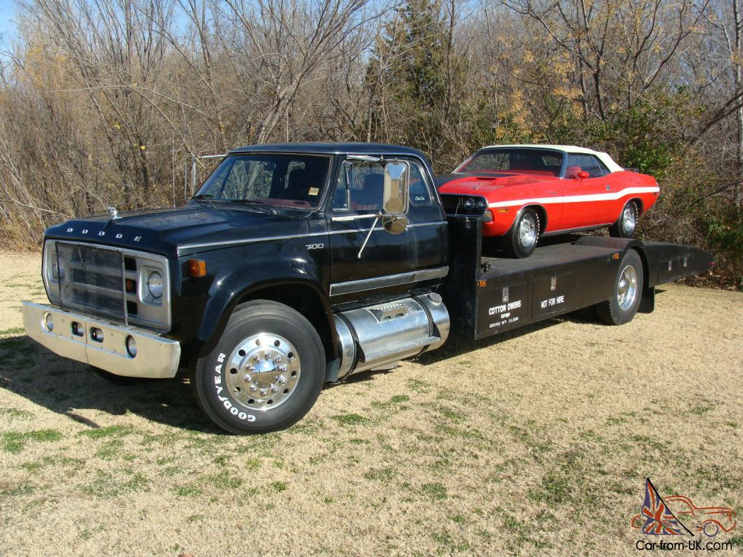 Dodge D700 Car Hauler Custom Built Owned By The Legendary
