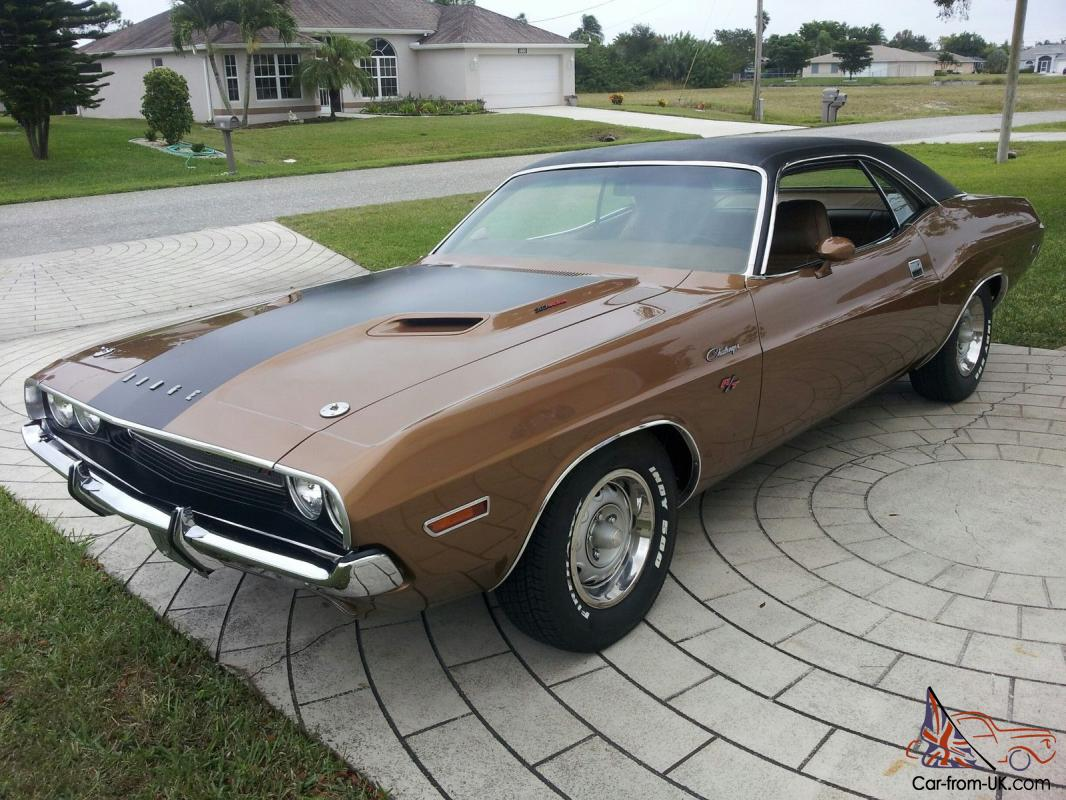 1970 DODGE CHALLENGER R T California Built High Impact Gold Color