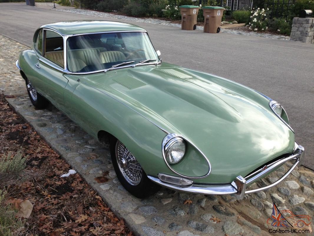 1968 jaguar e type series 1 5 2 2 coupe all original two owners 52k miles. Black Bedroom Furniture Sets. Home Design Ideas
