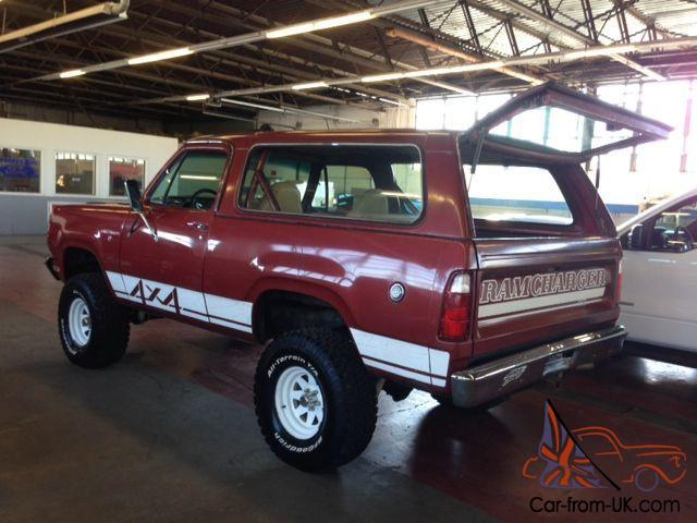 1979 Dodge Ramcharger 4x4 Macho Se
