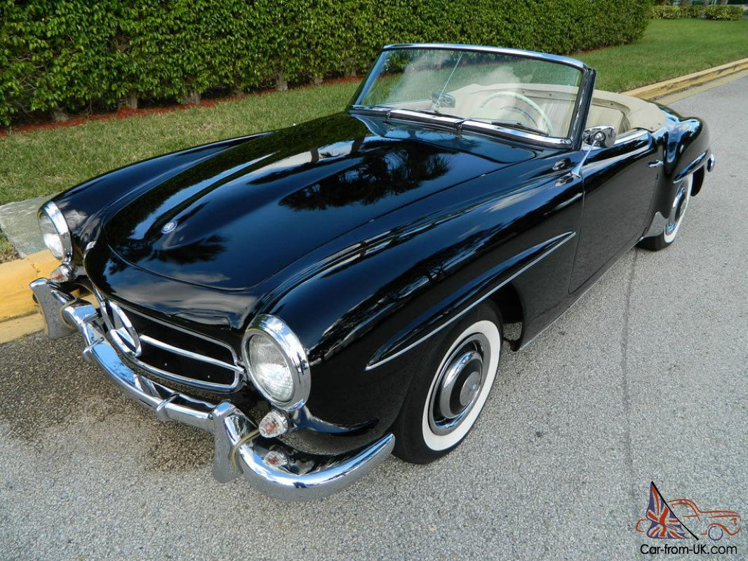 1960 mercedes benz w121 190sl roadster black over for 1960 mercedes benz