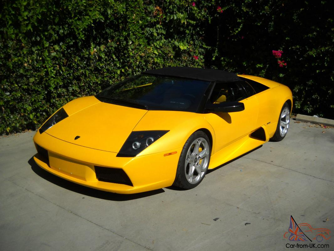 2005 LAMBORGHINI MURCIELAGO ROADSTER PEARL YELLOW 6 SPEED MANUAL! Photo