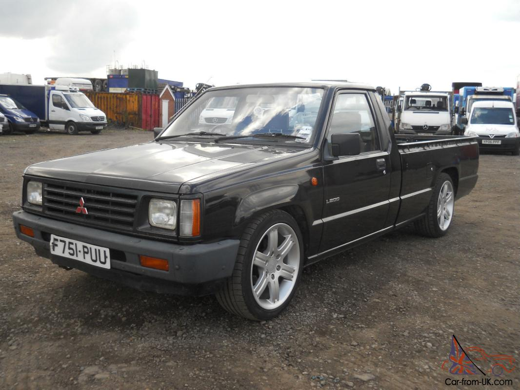 mitsubishi l200 pick up 1988 39 f 39 reg lowered 18 shogun warrior wheels 3 owners. Black Bedroom Furniture Sets. Home Design Ideas