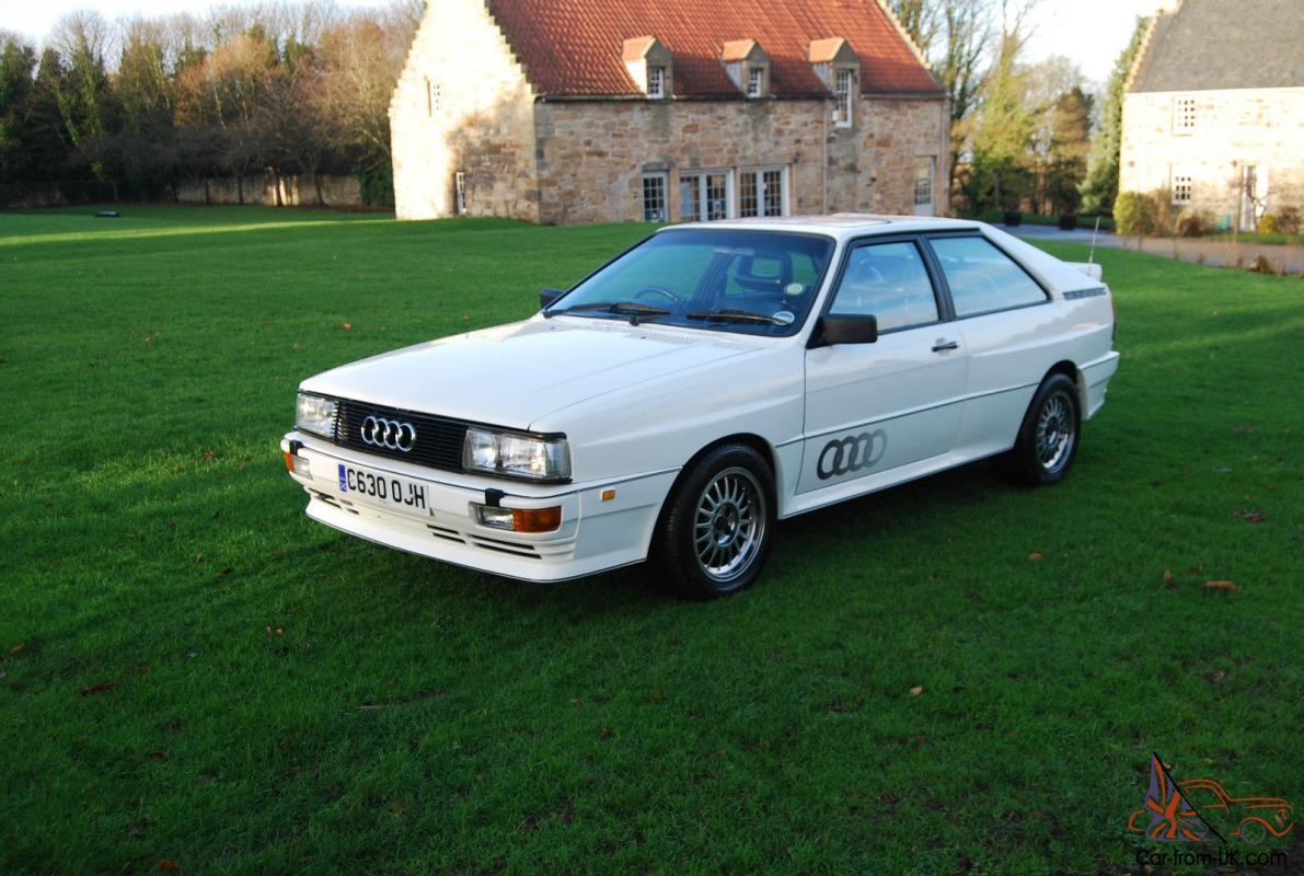 Ebay Electric Car Guide And Troubleshooting Of Wiring Diagram 2010 Honda Fury 1986 Audi Ur Quattro Turbo Wr Rhd White Classic Show Chargers