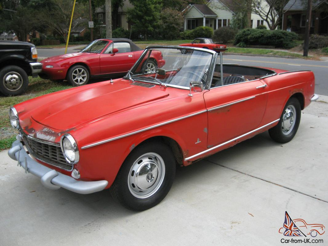 vintage 1966 fiat 1500 cabriolet project runs drives alfa abarth convertible. Black Bedroom Furniture Sets. Home Design Ideas