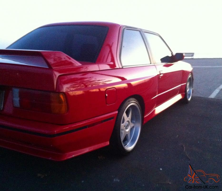 RARE BMW E30 M3 RED (Zinnoberrot) 6L S52 TURBO with 500WHP ...