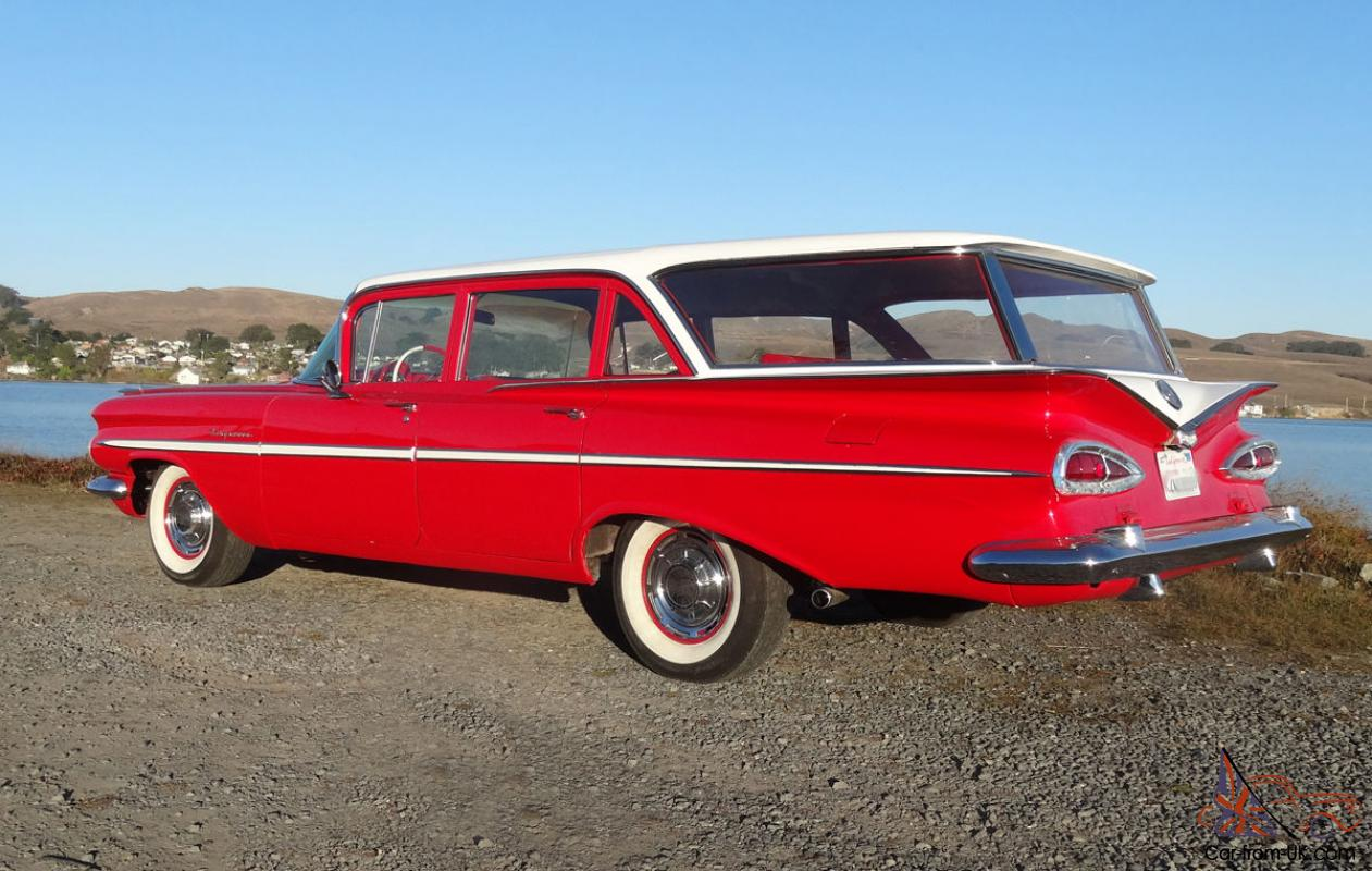 1959 chevrolet kingswood station wagon chevy brookwood nomad automatic. Black Bedroom Furniture Sets. Home Design Ideas