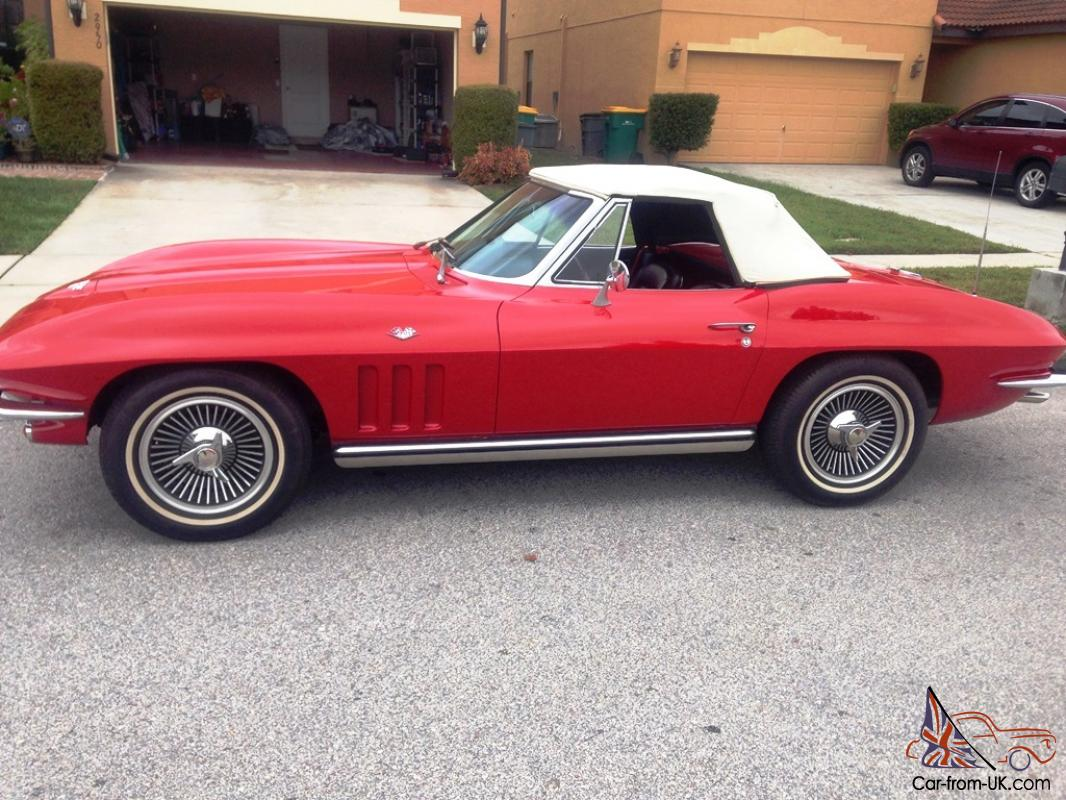 1965 chevy corvette stingray roadster matching 39 s 327 300 hp 4spd for. Cars Review. Best American Auto & Cars Review