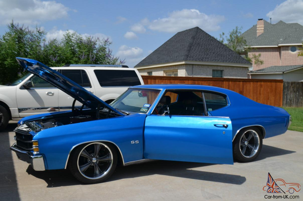 1971 Chevelle Ss Electric Blue With Black Racing Stripes Main Electrical Fuse Box Ebay