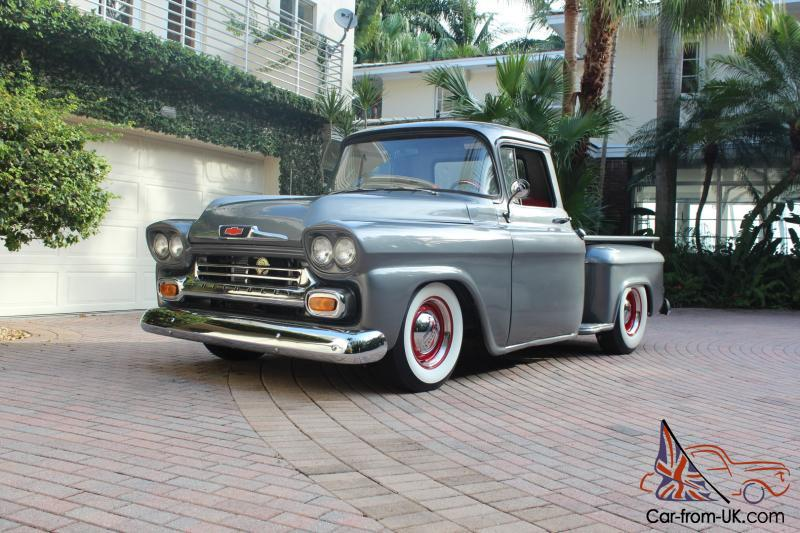 1958 Classic Chevy Apache Pu Pickup Truckv8short Bedstep Side