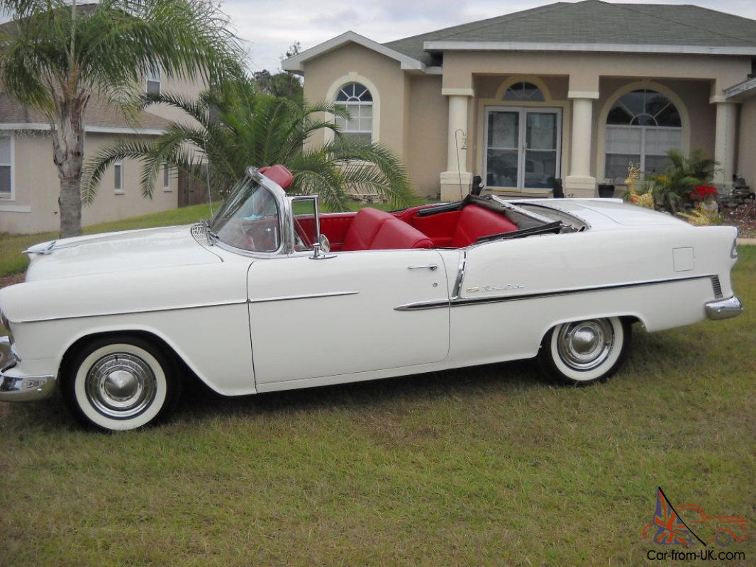 Automatic Cars For Sale Ebay Uk: 1955 CHEVY BELAIR CONVERTIBLE,ORG. 265 V8 ,AUTO