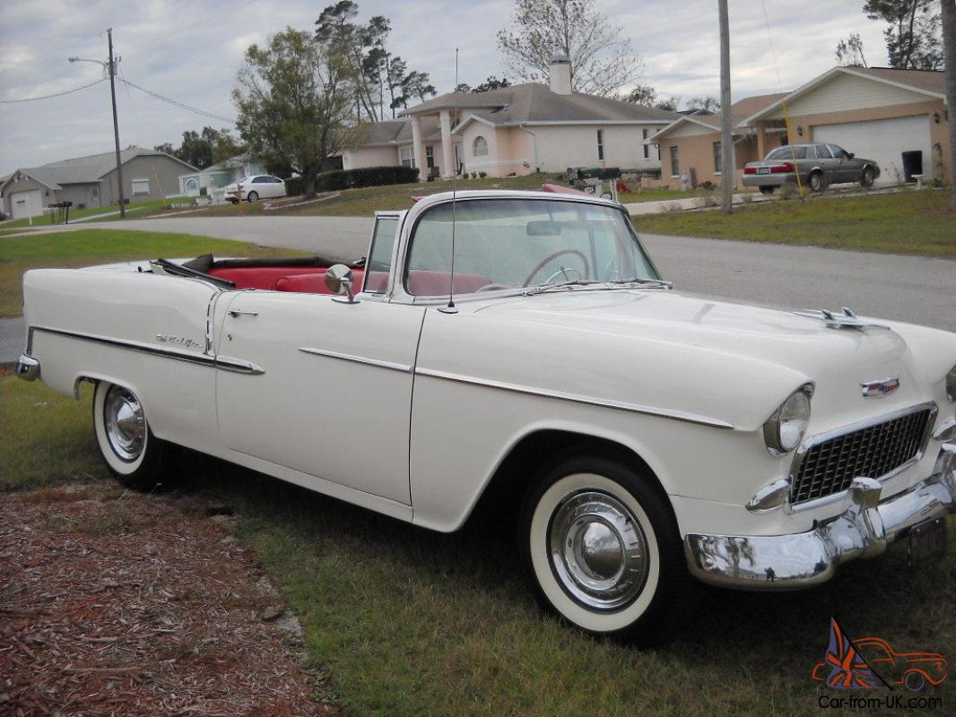 1955 chevy belair convertible org 265 v8 auto for Chevy v8 motors for sale