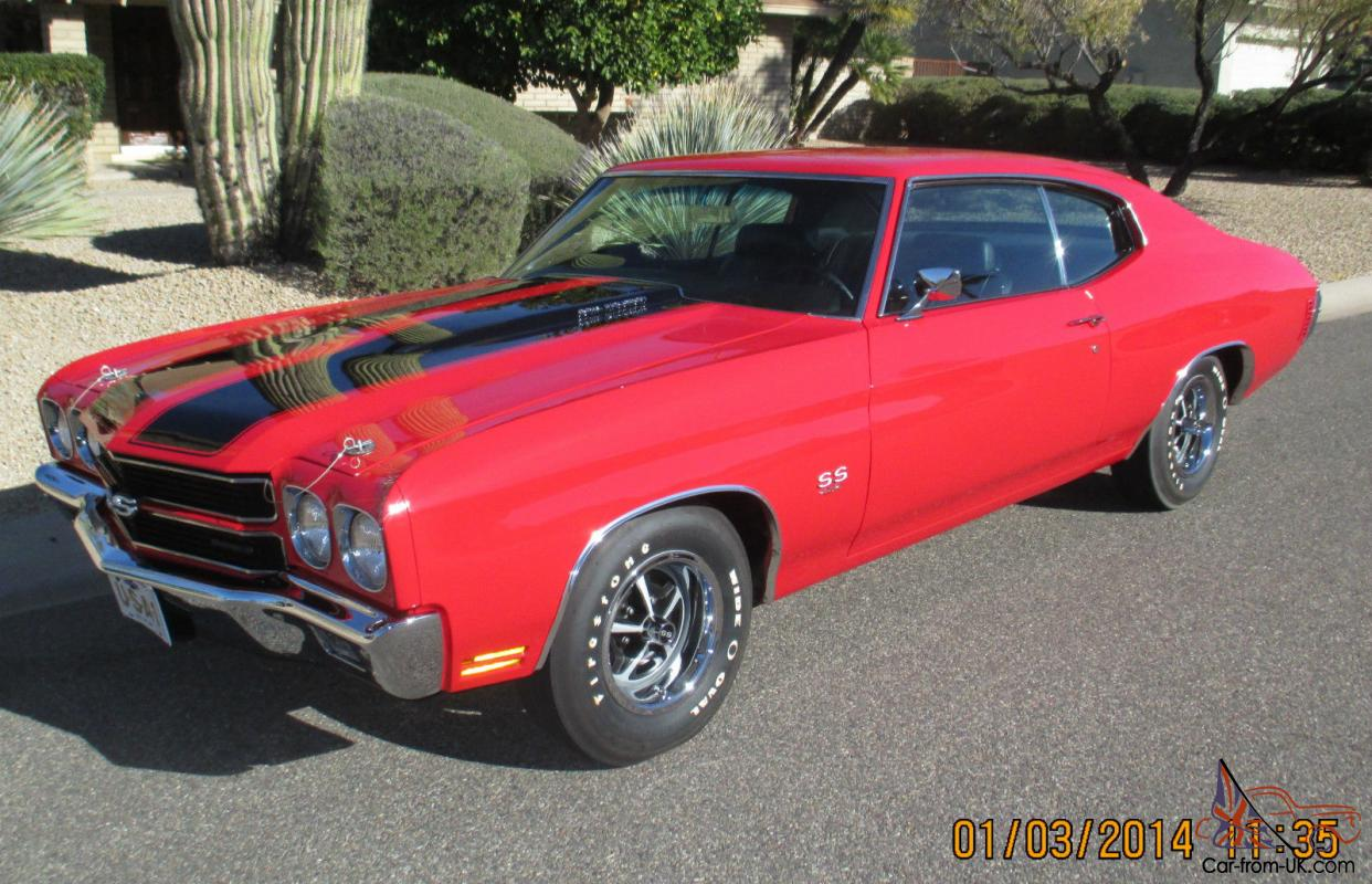 1970 Chevelle Ls5 Ss454 Red 4 Speed Born With Engine Diff Docs Road Ready